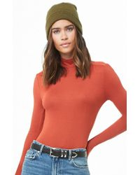 Forever 21 - Shirred Mock Neck Top - Lyst