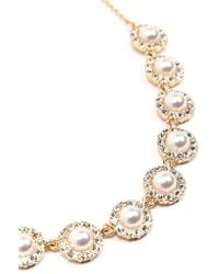 Forever 21 - Faux Pearl & Rhinestone Statement Necklace - Lyst