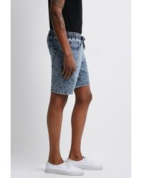 Forever 21 - 's Acid Wash French Terry Sweatshorts - Lyst
