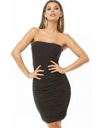 a89c0282e8 Forever 21 Mesh-hem T-shirt Dress in Black - Lyst