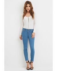 Forever 21 - Low-rise Skinny Jeans - Lyst