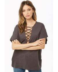 Forever 21 - Caged V-neck Top - Lyst