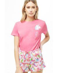 93516b4e4ee Forever 21 - Women's Unicorn Pyjama Set - Lyst