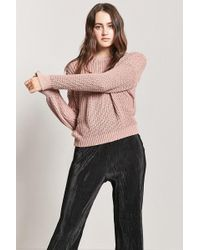 Forever 21 - Drop-sleeve Crew Jumper - Lyst