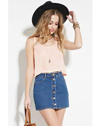 Forever 21 - Boxy Woven Top - Lyst