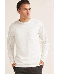 Forever 21 - Textured Crew Neck Pocket Tee - Lyst