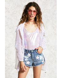 Forever 21 | Sequin Star Distressed Shorts | Lyst