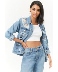 a7a5e40bbe7 Lyst - Forever 21 Plus Size Denim Jacket in Blue