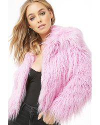 Forever 21 - Shaggy Faux Fur Coat - Lyst