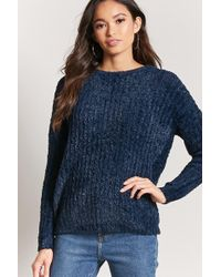 Forever 21 - Ribbed Fuzzy Knit Sweater - Lyst