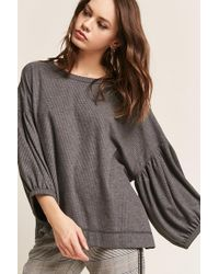 Forever 21 - Balloon-sleeve Knit Top - Lyst
