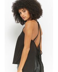 Forever 21 - Waffle Knit Tie-back Cami - Lyst