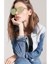 Forever 21 - Round Cateye Sunglasses - Lyst