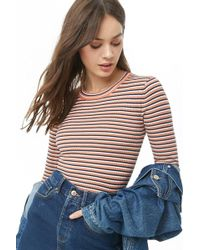 Forever 21 - Striped Ribbed Top - Lyst