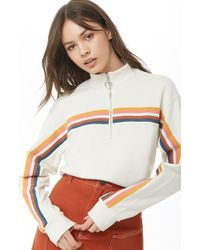 Forever 21 - Women's French Terry Striped Pullover Top - Lyst