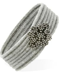 FOREVER21 - Beaded-front Headwrap - Lyst