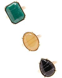 Forever 21 - Faux Gem Ring Set - Lyst