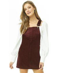 Forever 21 - Corduroy Overall Mini Dress - Lyst