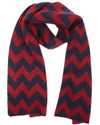 Forever 21 - Zigzag Brush Knit Scarf , Burgundy/navy - Lyst