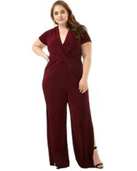 440c079196d Forever 21 Women s Plus Size Sheeny Twist-front Jumpsuit in Yellow ...