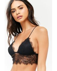 3b082b1221 Forever 21 Floral Lace Push-up Bra in Natural - Lyst
