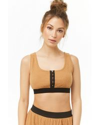 Forever 21 - Ribbed Cropped Pyjama Top - Lyst