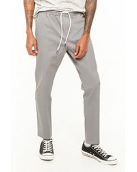 Forever 21 - 's Twill Drawstring Jogger Pants - Lyst