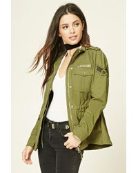 Forever 21 - Military Cargo Jacket - Lyst