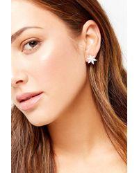 Forever 21 - Floral Rhinestone Stud Earrings - Lyst