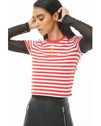 Forever 21 - The Grinch Striped Graphic Tee , Red/white - Lyst