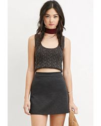 Forever 21 | Zippered Skater Skirt | Lyst