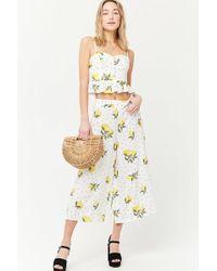 Forever 21 - Lemon Print Culottes - Lyst
