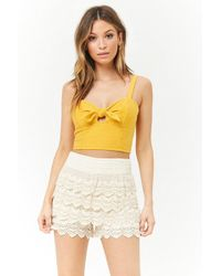 Forever 21 - Crochet Lace Shorts - Lyst