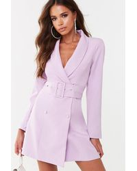 Missguided Longline Blazer At , Lilac