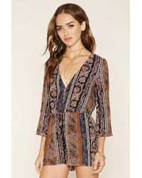 Forever 21 | Abstract Paisley Romper | Lyst