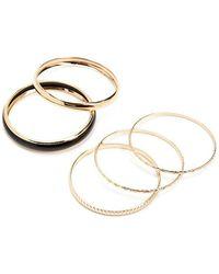Forever 21 - Etched Bangle Bracelet Set - Lyst
