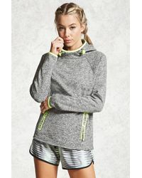 Forever 21   Active Marled Knit Hoodie   Lyst