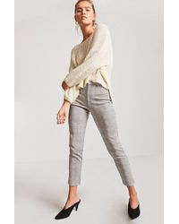 Forever 21 - High-rise Glen Check Trousers - Lyst