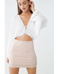 Forever 21 - Stud Trim Mini Skirt , Blush - Lyst