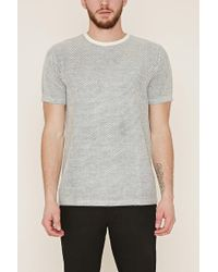 Forever 21 - Textured Dot-patterned Tee - Lyst