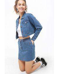 Forever 21 Women's Pinstriped Mini Skirt