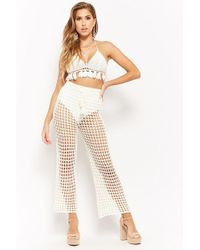 Forever 21 - Women's Open-knit Drawstring Trousers - Lyst