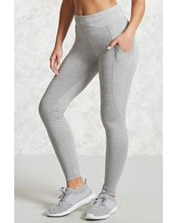 Forever 21 - Active Heathered Knit Leggings - Lyst