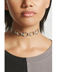 Forever 21 - O-ring Chain-link Choker - Lyst