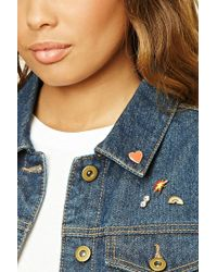 Forever 21 - Rainbow Hashtag Pin Set - Lyst