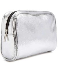 Forever 21 - Textured Metallic Makeup Bag - Lyst