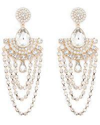 Forever 21 - Women's Gleaming Statement Drop Earrings - Lyst