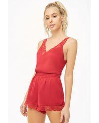 Forever 21 - Women's Satin Lingerie Pyjama Set - Lyst