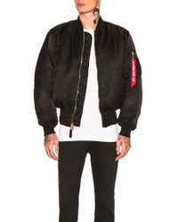 Alpha Industries - Ma-1 Blood Chit Bomber - Lyst