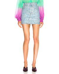 Attico - For Fwrd Multicolor Crystal Skirt - Lyst
